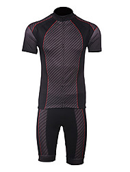 MOON Men's New Spide Man Polyester Breathable Short Sleeved Cycling Suit - Black