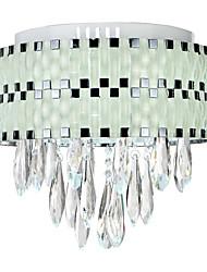 Stylish LED Crystal Flush Mount 90-240V
