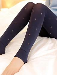 Women's Plus Velvet Anchors Pattern Hosiery  for Winter