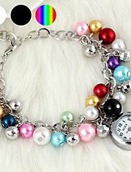 Fashionable Women's Pearl Bracelet Watch (1Pc)(Assorted Colors) Cool Watches Unique Watches