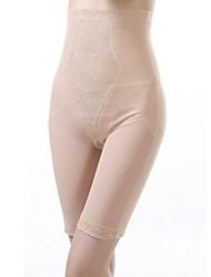 nylon / lycra alta flor de la cintura de largo que forma las bragas atractivas de la talladora de la ropa interior