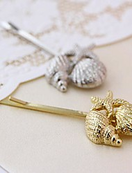 estilo europeu concha de metal retro casamento de praia de jóias de noiva hairpin