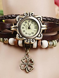 Damen Modeuhr Armband-Uhr Quartz PU Band Böhmische Schwarz Weiß Blau Rot Orange Braun Grün Marke