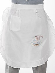 1 Linen / Cotton Blend Oval Aprons