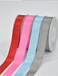 7/8 Inch Polyester Color Buty Belt Printing Ink Dot Seven Oblique Dot Ribbon- 25 Yards Per Roll (More Colors)