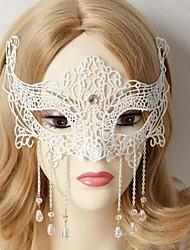bola cos das mulheres mascaradas branco broto de seda cristal princesa máscara metade do rosto