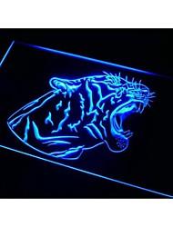 N488 barre de tigre signe bière décor néon de lumière
