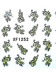 Half Cover Flower Style Nail Stickers XF1252