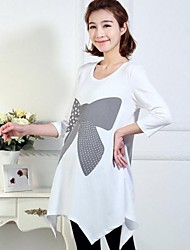 Maternity's Fashion Leisure Butterfly Print Maternity Dress