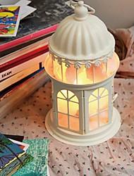 Table Lamps White 220V Warm White Light Crystal Salt Iron Art European Retro Classic