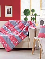 """Shuian® 40"""" Square Pillow Blanket Dual Purpose  Decorative Pillow with 100% Cotton with Flower Pattern"""
