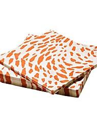 Leopard Print Pattern Paper Napkin Virgin Pulp 30 Pieces 17x17x3cm