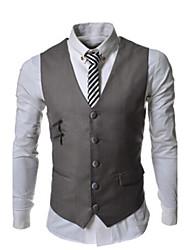 Bangwei Men's Leisure Zipper Waistcoat