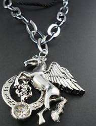 Men's Horse Leather Pendant Necklace