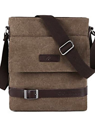 Canvas Belt Decoration Messengers  Bag