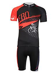 nouvelle action anti-uv zéro respirant lycra de polyester à manches courtes vélo maillot de lune hommes - rouge + noir
