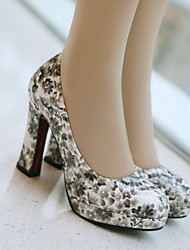Patent Leather Women's Chunky Heel Platform Pumps/Heels Shoes (More Colors)
