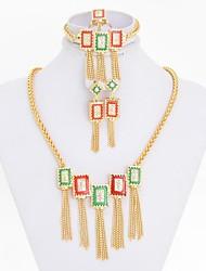 2014 New Arrival  Gold Colorful Necklace Prom Women Egypt Jewelry set  Rhinestone Pendant Fashion Jewellery
