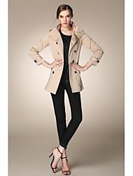 yimilan® la nouvelle qiu dong tenue britannique vent double boutonnage mode haut de gamme trench des femmes