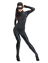 Zentai Cosplay Suit Cool Catwoman Super Hero Moive Cosplay Black Spandex Lycra Unisex Halloween Zentai Suit