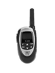 20 canais de walkie-talkie com ecrã LCD com luz de fundo (2 km de alcance)
