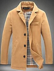 Men's Lapels Fashion Woolen Cloth Coat