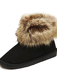 Suede Women's Flat Heel Round Toe Ankle Snow Boots (More Colors)