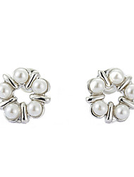 Daisy Women's Fashion Pearl Flower Earrings