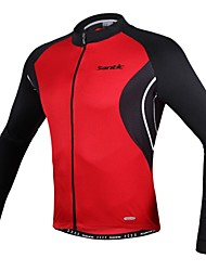 SANTIC® Cycling Jersey Men's Long Sleeve BikeBreathable / Anatomic Design / Ultraviolet Resistant / High Breathability (>15,001g) /