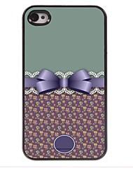 gepersonaliseerde gift mooie strik ontwerp metalen behuizing voor de iPhone 4 / 4s