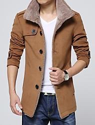 Men's Stand Collar Woolen Jacket Coat