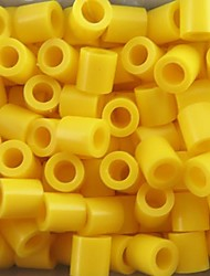 Approx 500PCS/Bag 5MM Yellow Perler Beads Fuse Beads Hama Beads DIY Jigsaw EVA Material Safty for Kids
