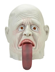Syvio hochwertigem Latex weiße Gespenst Emissär Kopf halloween Slip-on Maske