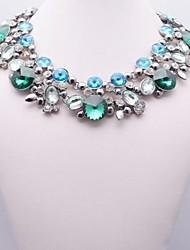 vert collier en cristal de perle des femmes