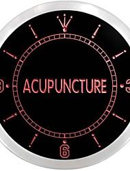 centre d'acupuncture signe traitement néon led horloge murale