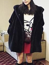 женская мода свободно тонкий шуба