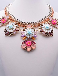 Women's Fashion Flower Pattern Necklace