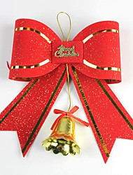 24*21CM Christmas Decoration Bow with Bell