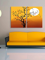 Stretched Canvas Art The Beautiful Sunset Decoration  Set of 2