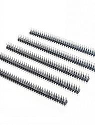 2,0 mm 2 x 40p zweireihige Nadel - schwarz (10 Stück)
