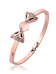 Women's Bangles Imitation Opal Cute Style Fashion Rose Gold Plated Fox Jewelry For Wedding Work