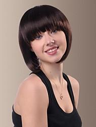 jeunes courts frange pleins perruques de cheveux droites visage adapté