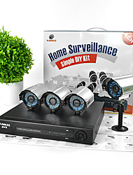 KAVASS® 4CH CCTV DVR Kit (P2P,H. 264, 4 Outdoor  540TVL Waterproof Color Cameras)