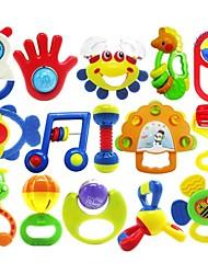 15pcs coloré multi-forme enfants anneau bébé jouets de cloche