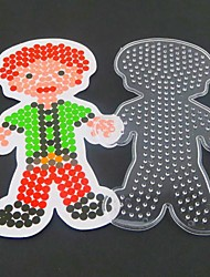 1PCS Template Clear Perler Beads Pegboard Man Father Papa Pattern for 5mm Hama Beads Fuse Beads