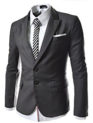 Mens Single Breasted Chest Zipper Slim Fit Stretchy Blazer