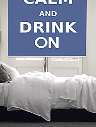Philosophic Classic Words Keep Calm And Drink On Roller Shade