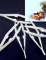 1pcs bianco strumento di plastica pinzetta per perline perline fusibile perline hama Perler diy safty puzzle per i bambini