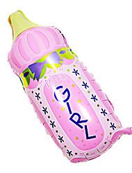 rosa mamadeira membrana de alumínio chá de bebê festa de aniversário balão (1pcs)