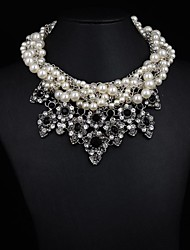 Women's Luxury Pearl Rhinestone Necklace